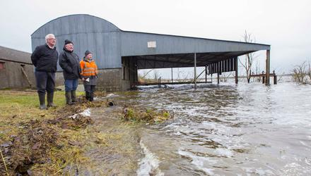 Farm affected by flooding of Lough Funshinagh, Rahara, Co. Roscommon in recent years. Photo Brian Farrell