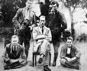 Prisoner: Brigadier General Cuthbert Lucas is pictured sitting down in this 'proof of capture' photograph