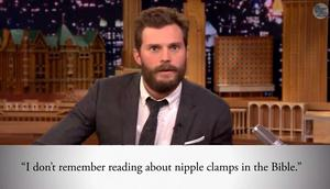 Dornan takes on Fifty Shades of Grey quotes in various accents on Jimmy Fallon