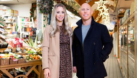 Dancing With The Stars' Peter Stringer and his wife Debbie at the launch of the Zenflore Christmas Everyday Stress Survey.  Picture: Michael O'Sullivan /OSM PHOTO