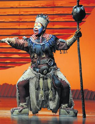 A performer from The Lion King. Photo: Phil Tragen