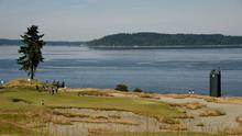The 15th green at Chambers Bay