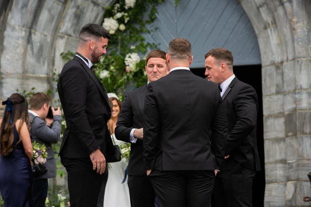 Guests at Laura Smith and Cian Healy's wedding in Galway. Picture: Andy Newman