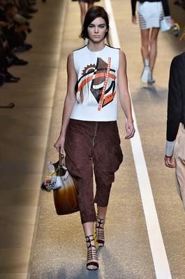 Kendall Jenner walks the runway during the Fendi Ready to Wear show as part of Milan Fashion Week Womenswear Spring/Summer 2015