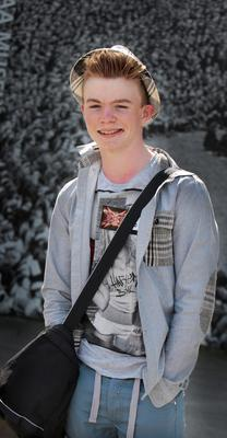 Cian Riordan from Cork who auditioned for X Factor at Croke Park yesterday.Pic Tom Burke 8/4/2015