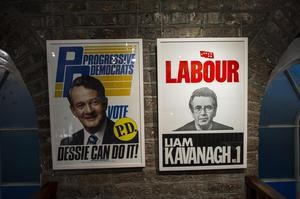 An exhibit in the Political Ephemera Exhibition in the National Print Museum.