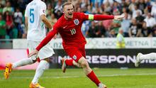England's Wayne Rooney celebrates after scoring the winner Action Images via Reuters / John Sibley Livepic