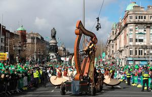 Participants during the Dublin's St Patrick's Day Parade. Photo: Niall Carsons/PA Wire