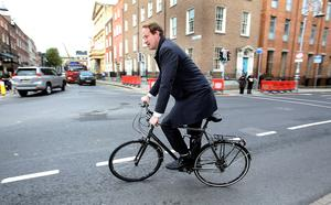 Keeping his distance: Jim O'Callaghan could be hoping to remain aloof from any coalition failures. Pic Tom Burke