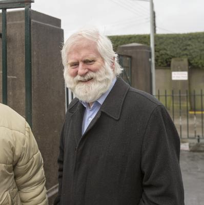 John Sheahan from the Dubliners at the mass of founding member of the Chieftains Sean Potts at the Church of Our Lady Help of Christians, Navan Road. Pic: Mark Condren