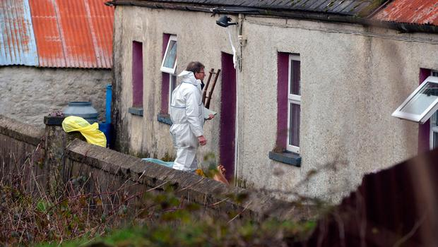The cottage where Paddy Lyons was found slumped in a chair. Photo: Michael Mac Sweeney/Provision
