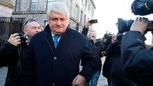 Denis O'Brien outside the Four Courts. Photo: Collins Courts