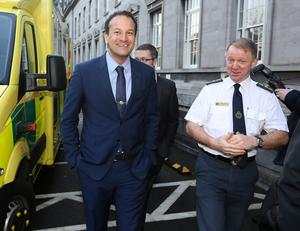 Leo Varadkar, TD, Minister for Health and Martin Dunne, Director of the National Ambulance Service at the launch of a national network of Community first responders. The network aims to double the number of CFR responders schemes in the coutry in the next 12 months and increase the survival rate of victims of cardiac arrest. Picture: Damien Eagers