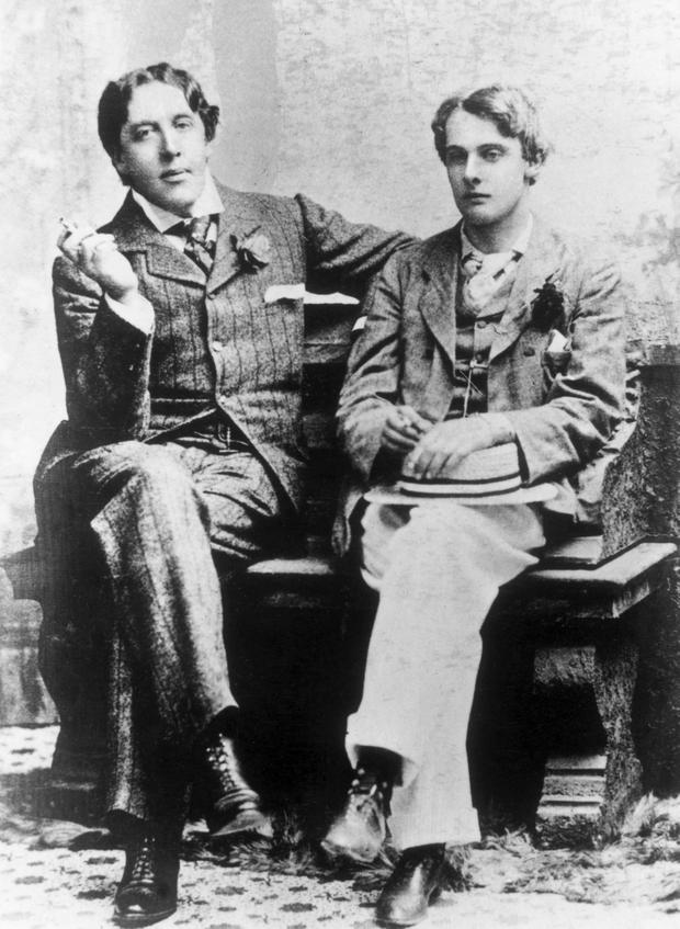 Oscar Wilde's love affair with Lord Alfred Douglas (right) was turned into a pantomime in public morality