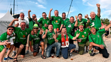 Republic of Ireland supporters before the game in Faro, Portugal.