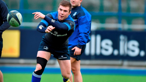 Leinster's Luke McGrath fires a few balls during squad training at Donnybrook Stadium this week (SPORTSFILE)