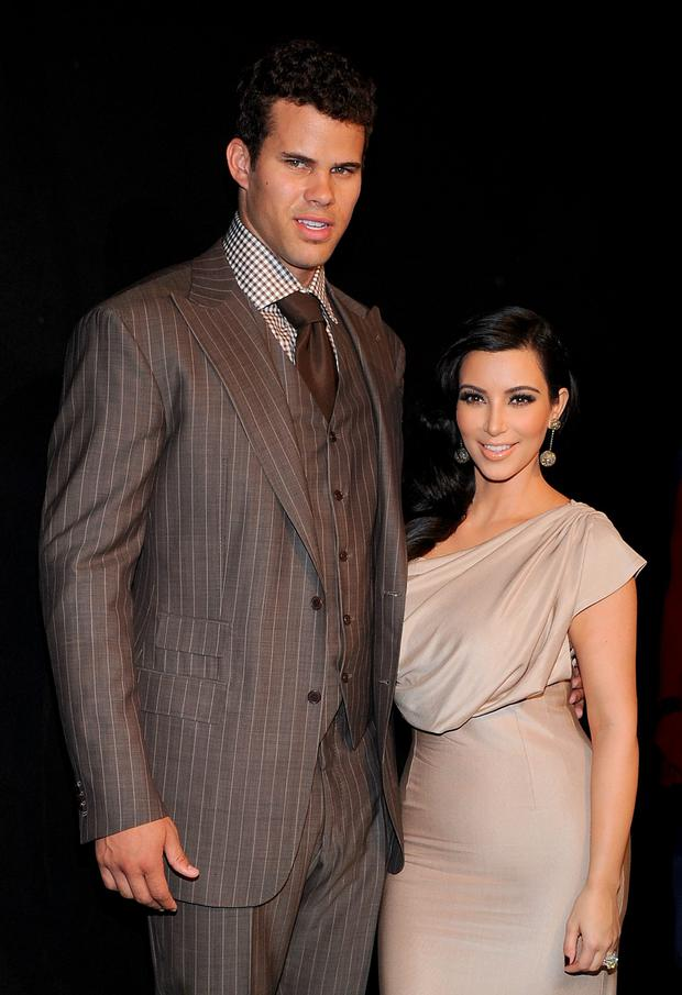 NBA player Kris Humphries (L) and TV personality Kim Kardashian attend A Night of Style & Glamour to welcome newlyweds Kim Kardashian and Kris Humphries at Capitale on August 31, 2011 in New York City. (Photo by Jamie McCarthy/Getty Images)