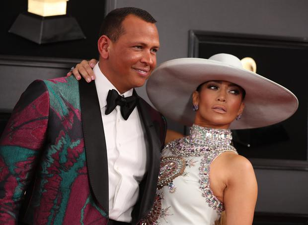 61st Grammy Awards - Arrivals - Los Angeles, California, U.S., February 10, 2019 - Alex Rodriguez and Jennifer Lopez. REUTERS/Lucy Nicholson