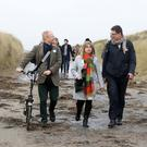 Biodiversity: Green Party leader Eamon Ryan and fellow candidates Cllrs David Healy and Caroline Conroy unveil their plan on Bull Island