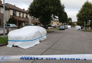 The scene of the shooting at Cherrywood Drive, Clondalkin this monring