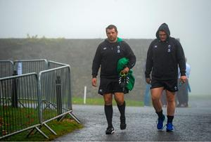 20 November 2014; Ireland's Mike Ross, left, and Jack McGrath during squad training ahead of their side's Guinness Series match against Australia on Saturday. Ireland Rugby Squad Training, Carton House, Maynooth, Co. Kildare. Picture credit: Stephen McCarthy / SPORTSFILE