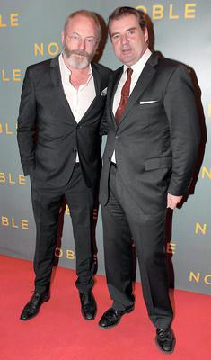 Actor Liam Cunningham and Actor Brendan Coyle at The Irish Gala Screening of NOBLE  at the Savoy Cinema on O'Connell Street, Dublin Pictures:Brian McEvoy