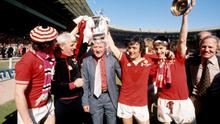 Tommy Docherty is pictured after winning the 1977 FA Cup with Manchester United, beating Liverpool in the final