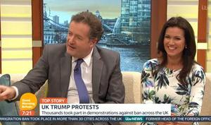 Susanna Reid was largely frozen out of the conversation. Pic: Good Morning Britain / ITV