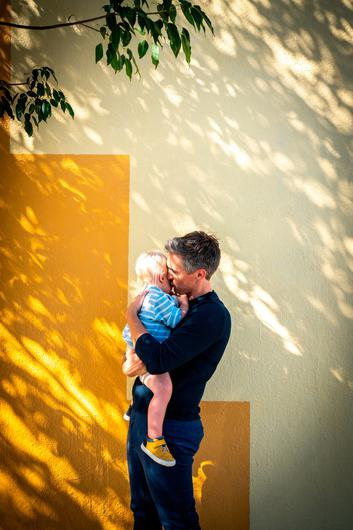 Doting dad: Donal with son Noah. Photo: Victoria Wall Harris