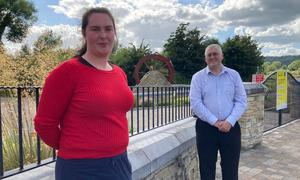Plight: Geraldine Buckley, with Labour councillor John Pratt, right, fears she will have to undergo her course of treatment for eczema from the start again