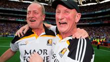 Kilkenny manager Brian Cody - pictured with selector Michael Dempsey at the end of the All-Ireland final replay win over Tipperary - has stood by his criticism of referee Barry Kelly. Photo: David Maher / SPORTSFILE