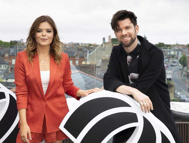 Doireann Garrihy and Eoghan McDermott at the unveiling of new 2FM shows and presenters at The Devlin Hotel.  PHOTO: Tony Kinlan