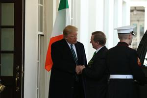 Enda Kenny meets with President Trump for the first time (Photo: Gerry Mooney)