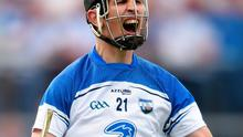 Waterford's Maurice Shanahan celebrates after scoring his side's first goal against Cork on Sunday