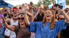 Energetic: Revellers at the Throwback Stage at Electric Picnic in Stradbally. Photo: Sam Barnes/Sportsfile