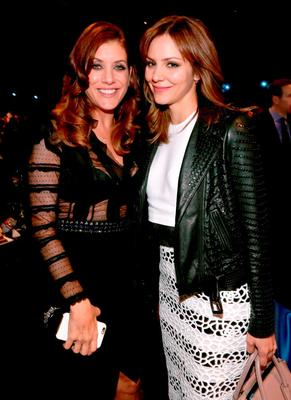 Actresses Kate Walsh (L) and Katharine McPhee attend The Comedy Central Roast of Justin Bieber at Sony Pictures Studios