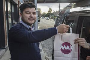 Restaurant owner Jules Mak has kept his Dublin 6 business running by operating a takeaway service. Photo: Arthur Carron