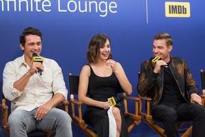 James Franco, actress Alison Brie and actor Dave Franco of 'The Disaster Artist' attend The IMDb Studio Hosted By The Visa Infinite Lounge at The 2017 Toronto International Film Festival at Bisha Hotel & Residences on September 10, 2017 in Toronto, Canada.  (Photo by Rich Polk/Getty Images for IMDb)