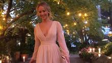 Jennifer Lawrence at her engagement party. Picture: Instagram
