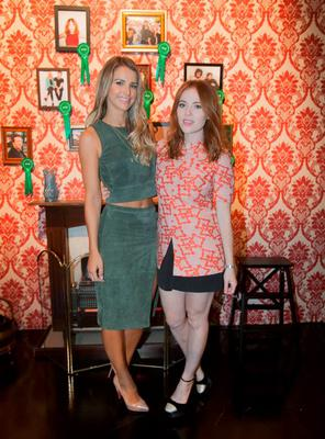 (L to R) Vogue Williams & Angela Scanlon during an announcement of a new season of programmes on RTE 2 at RTE studios Donnybrook, Dublin. Photo: Gareth Chaney Collins