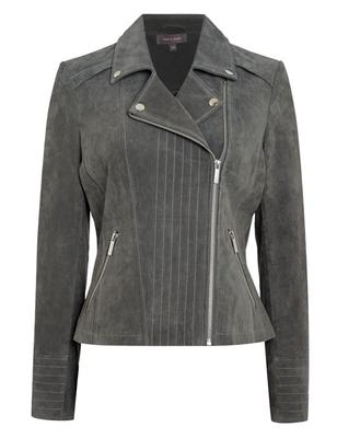Grey panelled jacket, €254 by Pied a Terre at House of Fraser