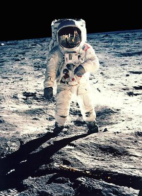 Astronaut Buzz Aldrin walks on the moon in July, 1969. Photo: Reuters