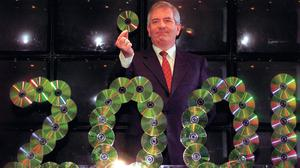 Finance Minister Charlie McCreevy with his 'giveaway' budget in 2001. Photo: Ferran Peredes