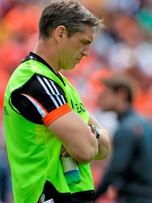 14 June 2015; Armagh manager Kieran McGeeney. Ulster GAA Football Senior Championship Quarter-Final, Armagh v Donegal. Athletic Grounds, Armagh. Picture credit: Brendan Moran / SPORTSFILE