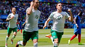 Robbie Brady, Stephen Ward and Jeff Hendrick are all at Burnley