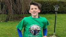 David Neville, 13, is running 5k a day throughout Lent in honour of his uncle, Daniel Kingston