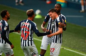 Dara O'Shea of West Bromwich Albion celebrates with team mates after scoring their second goal. Photo: David Rogers/Getty Images