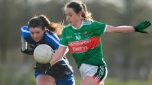Fiona Doherty of Mayo in action against Liz Devine of Waterford