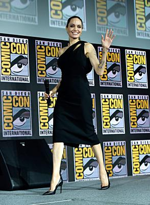 Angelina Jolie of Marvel Studios' 'The Eternals' at the San Diego Comic-Con International 2019 Marvel Studios Panel in Hall H on July 20, 2019 in San Diego, California. (Photo by Alberto E. Rodriguez/Getty Images for Disney)