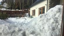 Picture taken on Monday shows extent of snow near Roundwood, Co Wicklow on Monday